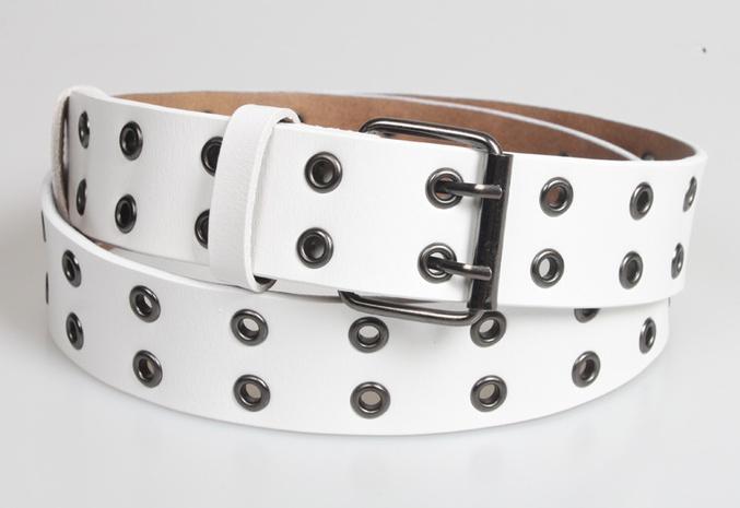 nihaojewelry Großhandel Mode zweireihige Nieten perforierter Ledergürtel NHJSR377756's discount tags