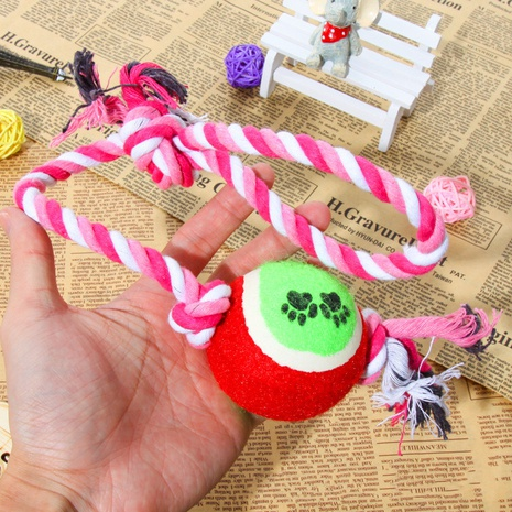 wholesale accessories tennis interactive cotton rope dog molar toy Nihaojewelry NHWY377746's discount tags