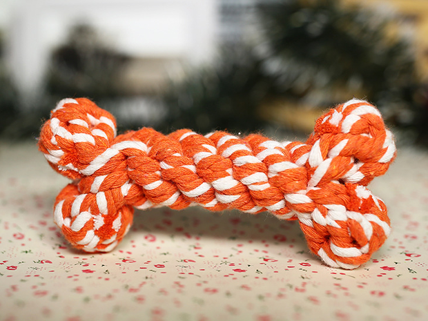 wholesale accessories cotton rope braided bone molar pet toy Nihaojewelry NHWY377749's discount tags