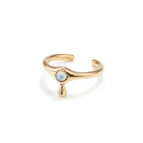 wholesale conjunto de collar de anillo de cobre ópalo en forma de gota de agua de joyería Nihaojewelry NHGI387431's discount tags
