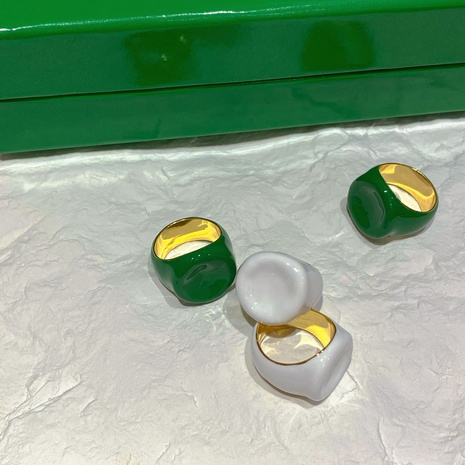 Al por mayor joyería gota de aceite esmalte geométrico anillo de cobre Nihaojewelry NHGI387434's discount tags