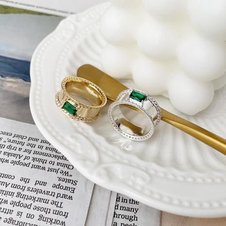 Joyería al por mayor anillo de cobre esmeralda de circón retro Nihaojewelry NHGI387443's discount tags