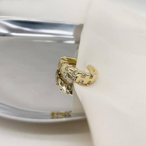 joyería al por mayor anillo abierto de cobre de circón retro Nihaojewelry NHGI387444's discount tags