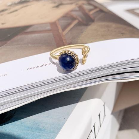 Al por mayor joyas anillo de cobre de ágata azul Nihaojewelry NHGI387446's discount tags