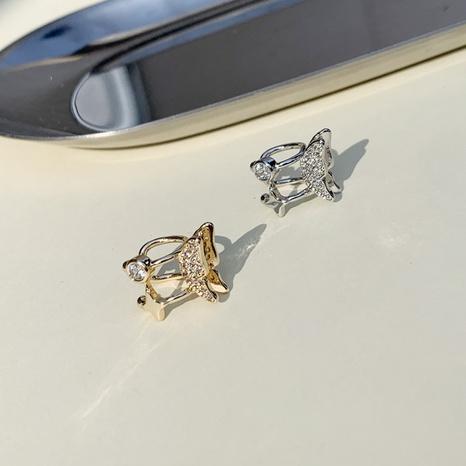 Nihaojewelry venta al por mayor joyería moda mariposa estrella circón cobre clip de hueso de oreja NHGI387450's discount tags