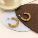 Nihaojewelry wholesale jewelry fashion line winding Cshaped pearl earrings NHGI387457