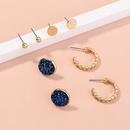 Nihaojewelry wholesale jewelry simple crystal cluster alloy earrings combination  NHDB387487