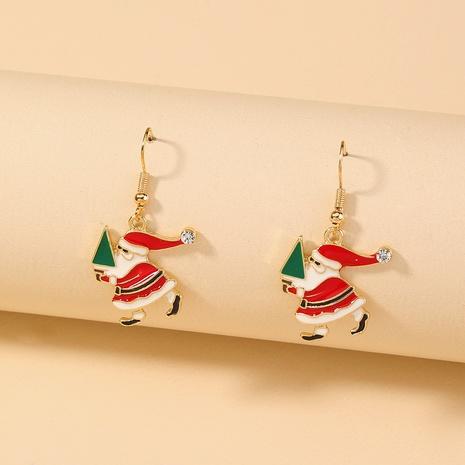 Nihaojewelry Großhandel Schmuck Mode Weihnachtsmann Diamant Hut Kupfer Ohrhaken NHDB387534's discount tags