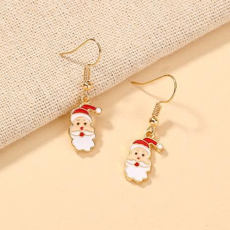Nihaojewelry Großhandel Schmuck Mode weißer Bart Weihnachtsmann niedlichen kupfernen Ohrhaken NHDB387535's discount tags