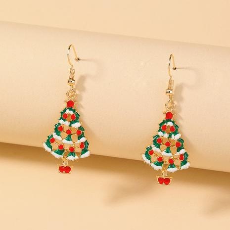 Nihaojewelry Großhandel Schmuck Mode kreative Weihnachtsbaum Kupfer Ohrringe NHDB387537's discount tags
