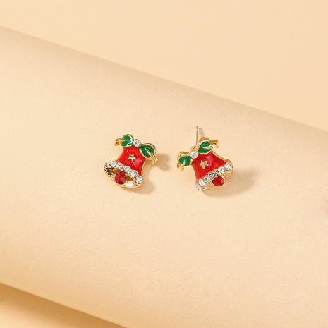 Nihaojewelry Großhandel Schmuck Mode diamantbesetzte Glocken kleine Ohrringe NHDB387539's discount tags