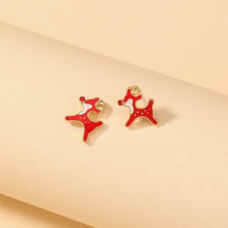 Nihaojewelry Großhandel Schmuck Mode Rot Weihnachten Fawn Ohrringe NHDB387543's discount tags