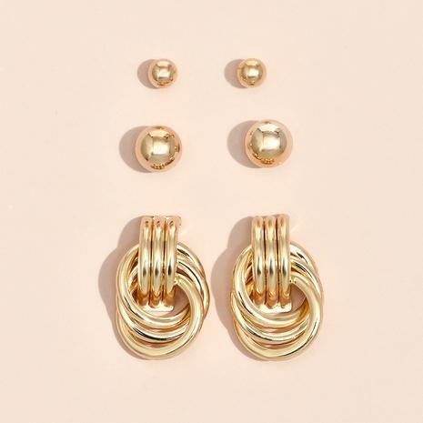 Nihaojewelry Großhandel Schmuck Mode geometrische Legierung Metall Ohrschnalle NHYAO387564's discount tags