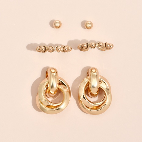Nihaojewelry Großhandel Schmuck einfache kreative geometrische Ohrringe Set NHYAO387566's discount tags