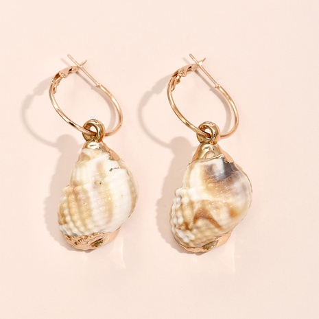 wholesale jewelry simple shell pendent alloy earrings Nihaojewelry  NHYAO387568's discount tags