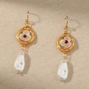 Nihaojewelry wholesale jewelry fashion pearl long handwound earrings NHDB387643