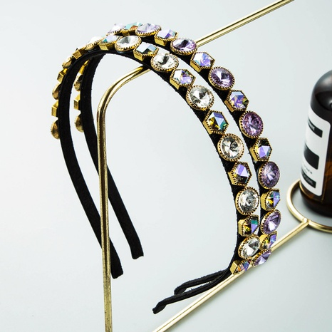 wholesale jewelry baroque full diamond thin headband Nihaojewelry NHLN387653's discount tags