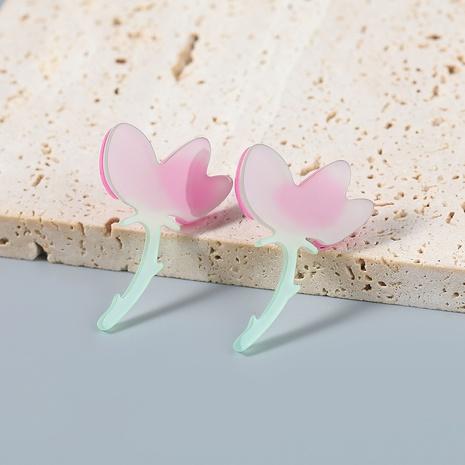Nihaojewelry wholesale jewelry creative alloy resin flower stud earrings  NHJE387683's discount tags