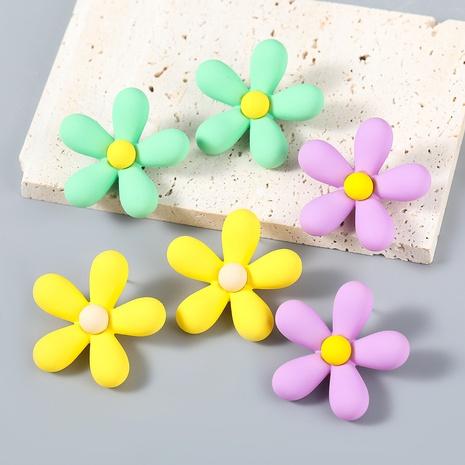 wholesale jewelry simple alloy resin flower stud earrings Nihaojewelry  NHJE387687's discount tags