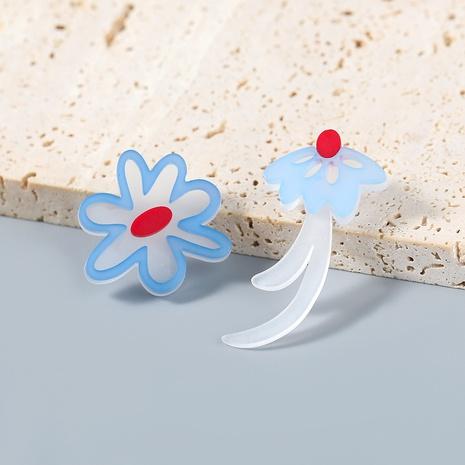 Nihaojewelry wholesale jewelry creative cartoon alloy resin flower earrings  NHJE387688's discount tags