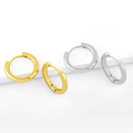 Großhandel Schmuck einfache Metallkreis-Ohrschnalle Nihaojewelry NHAS387694's discount tags