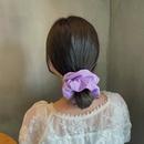 wholesale jewelry chiffon solid color hair scrunchies Nihaojewelry NHOF387707