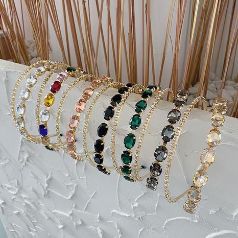 wholesale jewelry baroque alloy rhinestone hollowed headband Nihaojewelry NHSM387739's discount tags