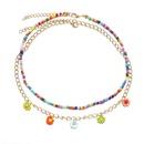 wholesale jewelry daisy pendant color beaded multilayer necklace nihaojewelry  NHPJ387761