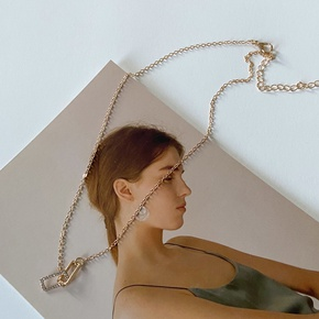 wholesale jewelry square interlocking simple necklace Nihaojewelry NHPF387764