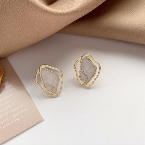 Großhandel Schmuck einfache geometrische Muschelohrringe Nihaojewelry NHPF387767's discount tags