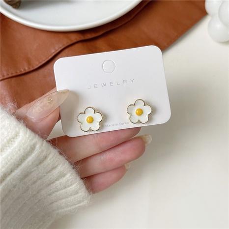 Großhandel Schmuck Blume koreanischen Stil Ohrringe Nihaojewelry NHPF387768's discount tags