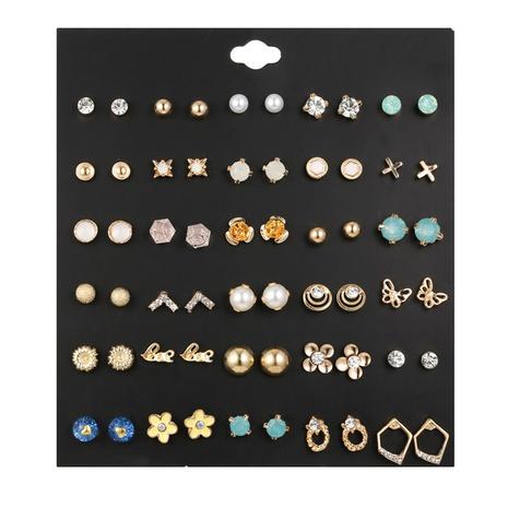 Großhandel Schmuck Strass Blume Schmetterling 30 Paar Ohrring Set Nihaojewelry NHZU387823's discount tags