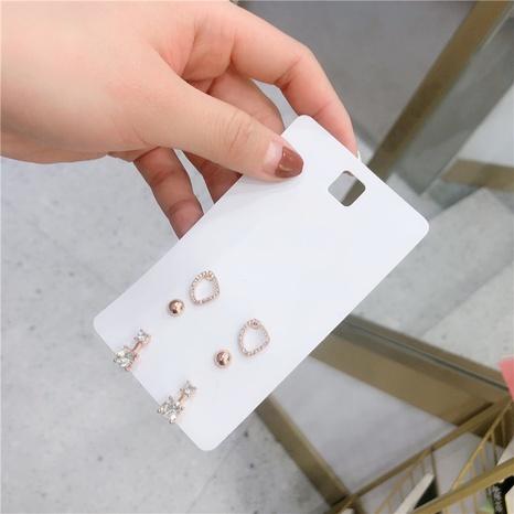 Großhandel Schmuck einfache geometrische drei Paar Ohrringe Nihaojewelry NHZU387846's discount tags