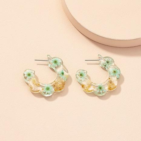 Großhandel Schmuck Retro getrocknete Blumenohrringe Nihaojewelry NHAI387928's discount tags