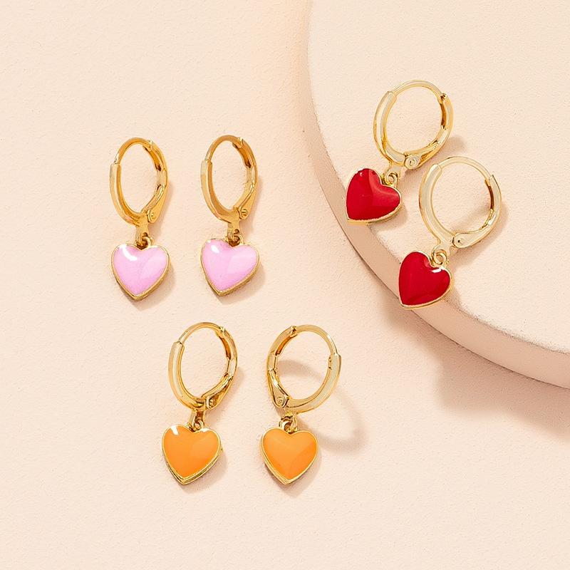 wholesale jewelry heart shape pendant fashion earrings Nihaojewelry NHAI387930