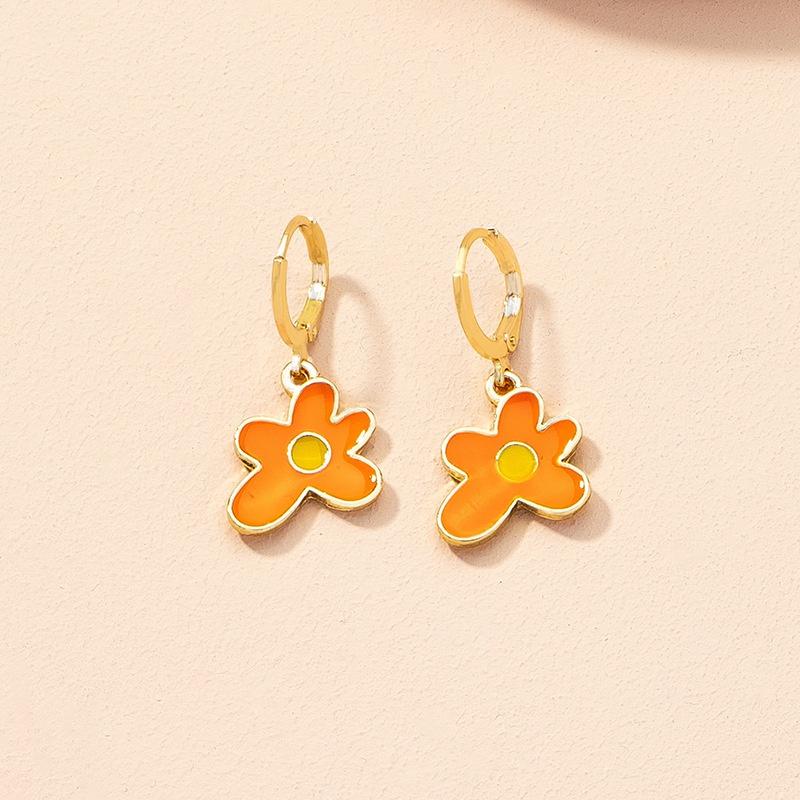 wholesale jewelry fashion flower alloy earrings Nihaojewelry NHAI387932