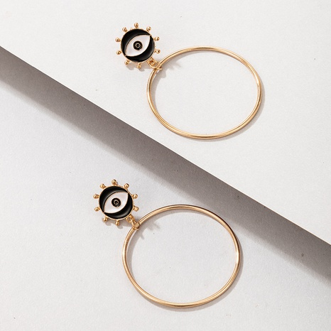 wholesale new simple golden eye big circle earrings Nihaojewelry  NHGY391707's discount tags