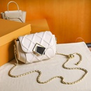 wholesale square buckle texture ball chain messenger single shoulder bag Nihaojewelry NHASB388351