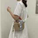 wholesale silk scarf decor apple shape shoulder woven straw bag Nihaojewelry NHTG388377