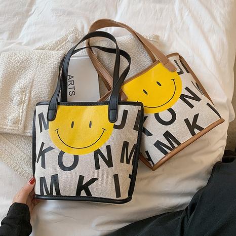 wholesale bolso de mano de lona simple de graffiti de gran capacidad Nihaojewelry NHTG388387's discount tags