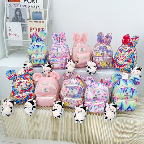 wholesale cute children's colorful backpack Nihaojewelry NHTG388392's discount tags