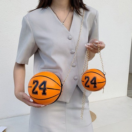 wholesale basketball shape printing shoulder chain bag nihaojewelry  NHTG388421's discount tags