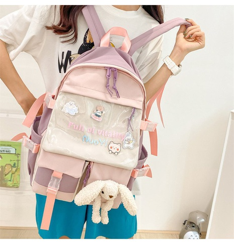 wholesale cute bear doll pendant contrast color transparent large-capacity backpack Nihaojewelry NHTG388429's discount tags