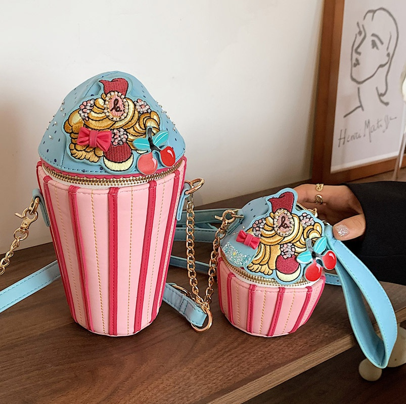 wholesale cute stripe embroidery zipper messenger small bag Nihaojewelry NHLH388435