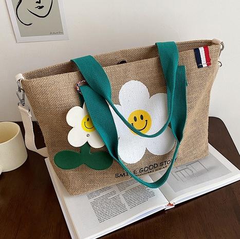 wholesale bolso de mano de un solo hombro de la flor linda de la tela de punto Nihaojewelry NHLH388436's discount tags