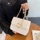 wholesale color heart shape buckle fashion rhombus messenger bag Nihaojewelry NHLH388447