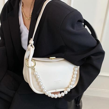 Nihaojewelry venta al por mayor bolsa de axila de un solo hombro con asa de perla simple NHLH388455's discount tags