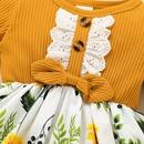 wholesale childrens pit strip longsleeved dress Nihaojewelry NHLF388733