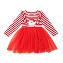 wholesale cute striped stitching longsleeved dress Nihaojewelry  NHLF388734