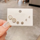 Wholesale Jewelry Small Round Shell Mango Star Copper Stud Earrings Set Nihaojewelry NHCG388778
